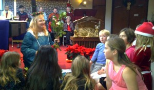Children Singing at 2103 Christmas Celebration